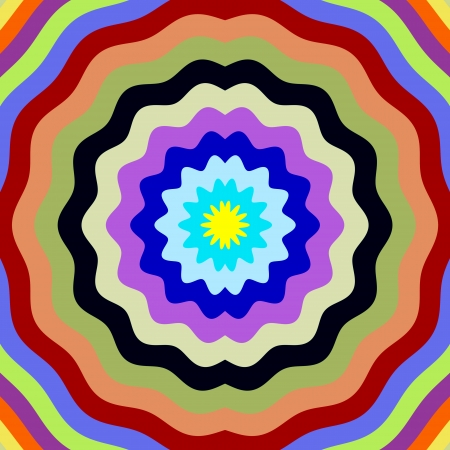 Digital flower petal shape colors effect illustration  Stock Illustration - 23132514