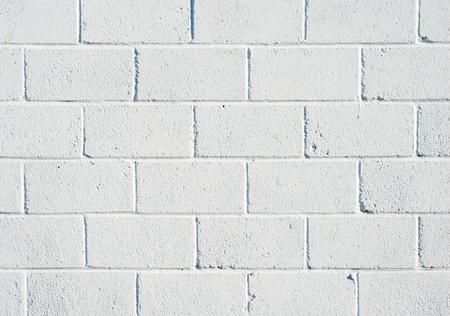 Whitewashed breezeblock wall close up. Stock Photo