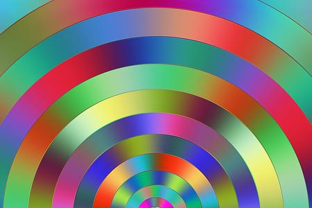 semicircular: Multicolored semi circular graduated colors.