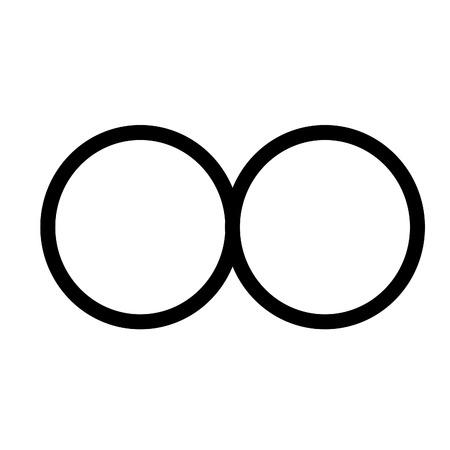 An infinite icon vector illustration on plain background Ilustração