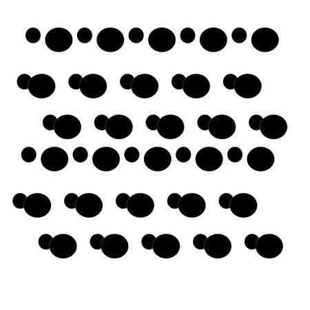 black footprints seamless pattern on white background. Vector illustration. Ilustração