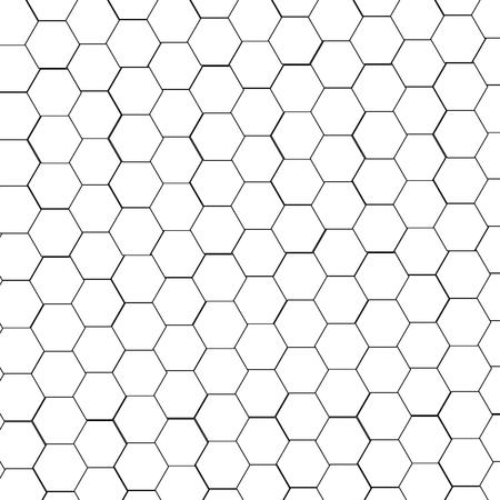 Hexagon pattern vector illustration