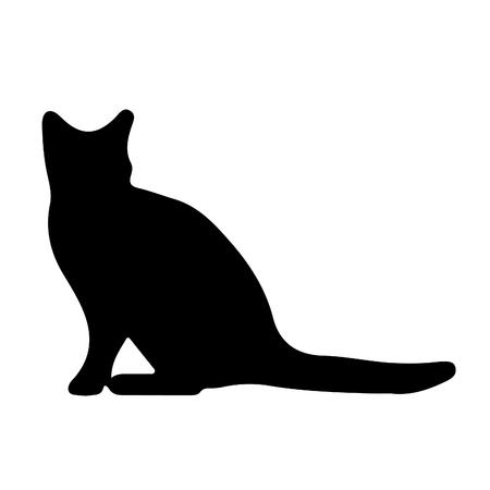 Vector - cat illustration of a black cat Ilustração