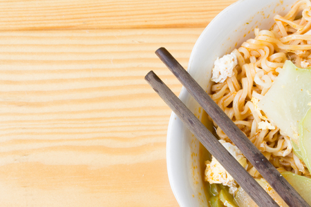 cooked instant noodle: Spicy noodles