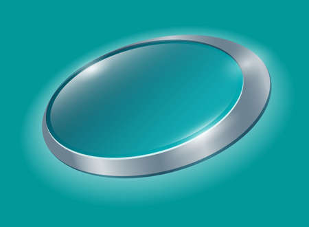 Glossy elliptical azure badge template with place for text. Basis for label. Design element. This template can use for cosmetics, household cleaning products, medical and antiseptic products.