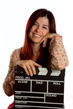 board of director: Donna graziosa riposa su un film Ciak