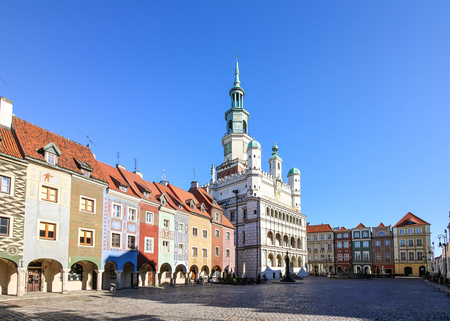 Picturesque Old Market in Poznan, Poland