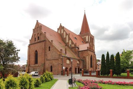 Gothic St. John The Baptist collegiate in Mysliborz