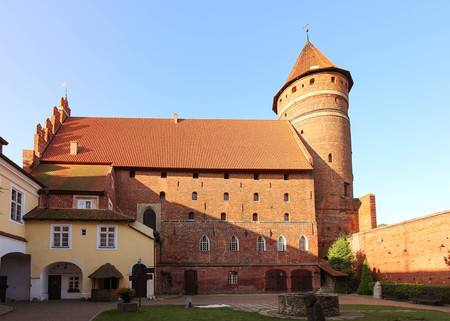 The courtyard of the Castle of Warmian Bishops in Olsztyn Editorial