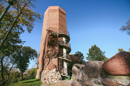 The Mice Tower in Kruszwica on a beautiful summer day