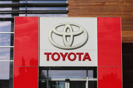 The logo of Toyota Motor Corporation
