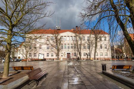 The town hall in Wolsztyn, Poland