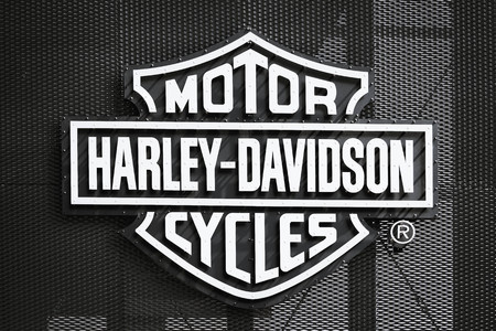 The logo of Harley-Davidson Motorcycles