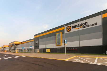 Amazon Logistics Center in Sady near Poznan, Poland. Amazon is an American electronic commerce company and the largest Internet retailer in the world. Editorial