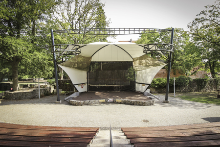 LAGOW, POLAND - Lagow Amphitheater, the main venue of the Lubuskie Summer Film Festival