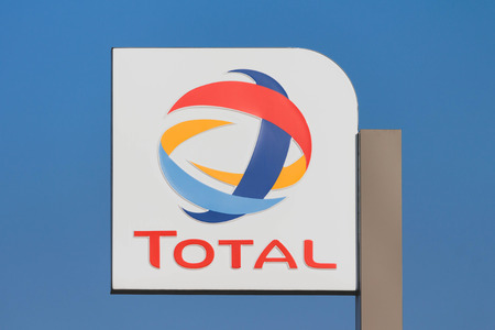 The logo of Total S.A. - French international oil refiner and petrol retailer company