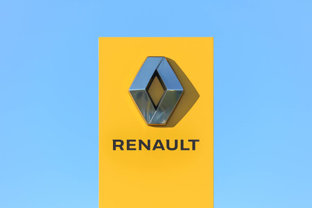 The logo of Renault S.A. - French international automobile manufacturer