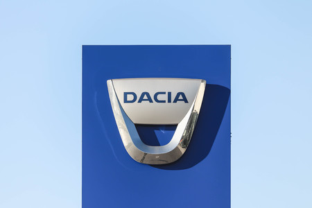 The logo of Dacia S.A. - a Romanian car manufacturer. Dacia is a subsidiary of the French car manufacturer Renault. Redakční