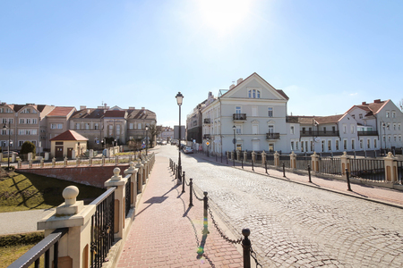 KONIN, POLAND - panoramic view of the Old Town district