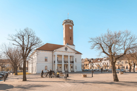 KOLO, POLAND - the town hall at the main square