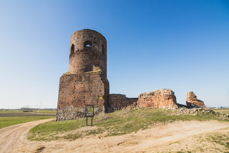 KOLO, POLAND - ruins of a medieval castle built by the Polish king Casimir The Great