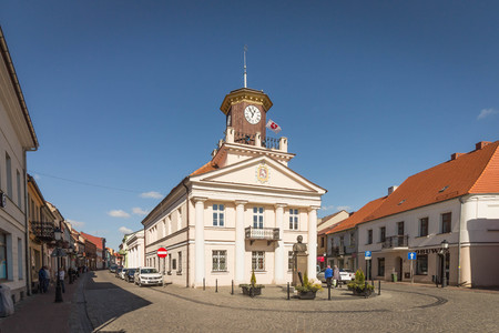 KONIN, POLAND - classicist town hall in the Old Town district Redakční