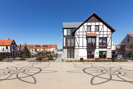 PUSZCZYKOWO, POLAND - public library at the main square