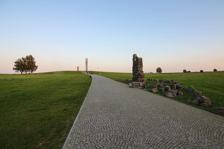 The fields and monuments of the battle of Grunwald