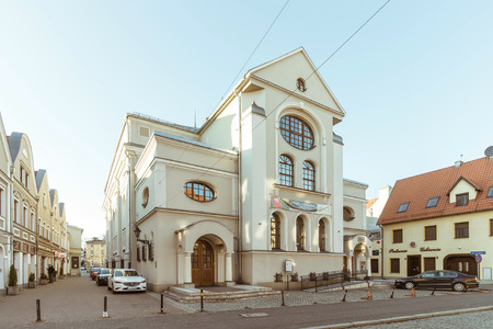 LESZNO, POLAND - New Synagogue, one of the biggest and best-preserved synagogues in Wielkopolska region. Redakční