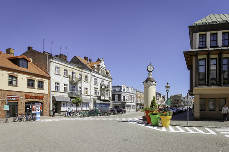 SZAMOTULY, POLAND - the main square in summer