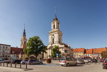 SWIEBODZICE, POLAND - classicist town hall at the main square