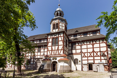 JAWOR, POLAND - half-timbered Church of Peace, listed as a UNESCO World Heritage Site
