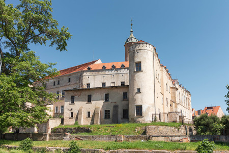 JAWOR, POLAND - medieval Piast Castle in summer