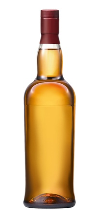 Whisky bottle on blank