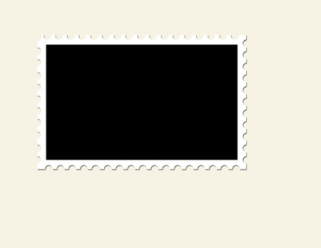 Blank Unused Postage Stamp Illustration
