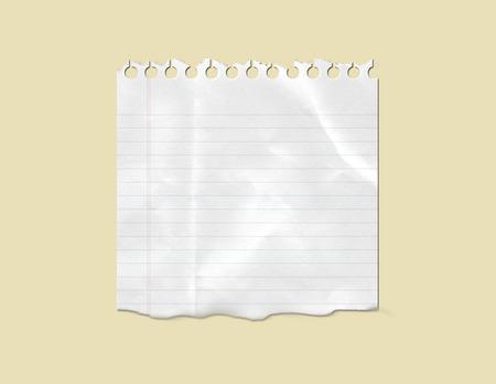 빈 흰색 메모 용지