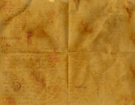 papier pli�: Vieux papier pli�  Illustration