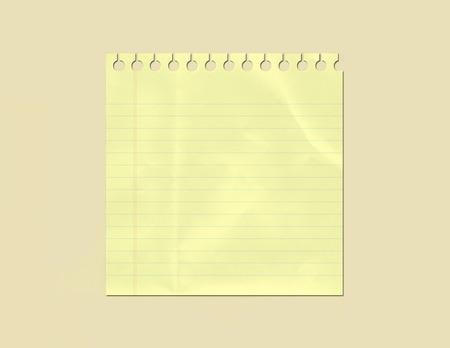 黄色のメモ用紙  イラスト・ベクター素材