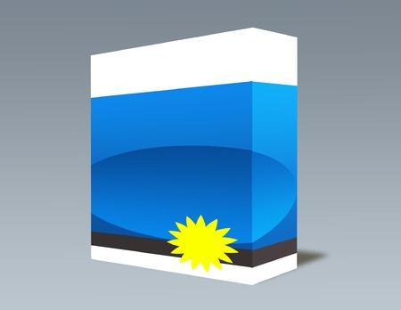 Blank Software Box Stok Fotoğraf - 7686169