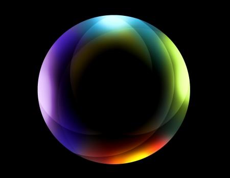 red sphere: Sfera di neon multicolor