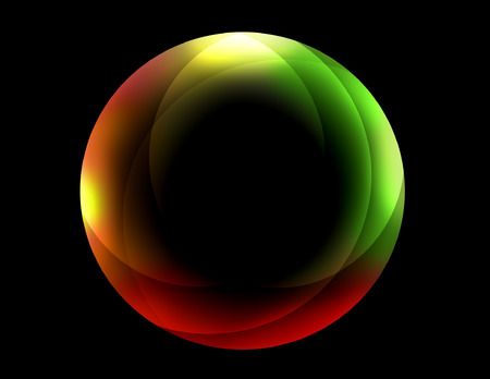 3d ball: Red and Green Sphere