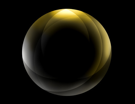 Golden Sphere Vector