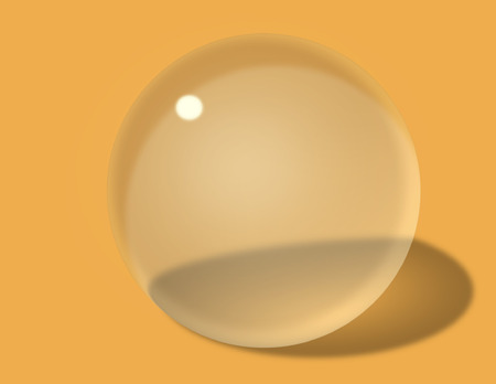 spherized: Spherized Transparent Glass Ball with reflection