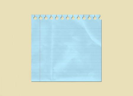 Lined Winkled Blue Paper