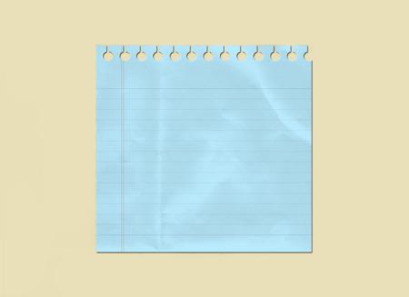 Lined Winkled Blue Paper