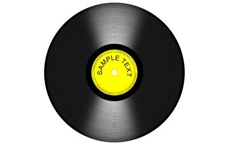 black and yelow vinyl Stock Vector - 16322463