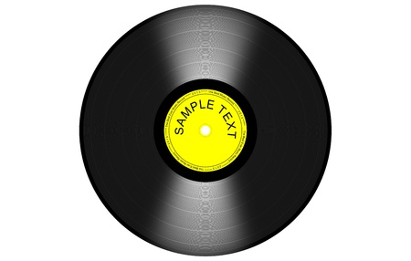 black and yelow vinyl
