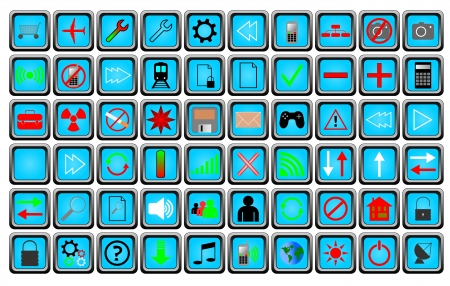 Buttons and icons Stock Vector - 16322468