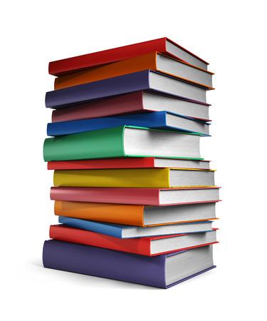 Pile of Books isolated on white background Standard-Bild