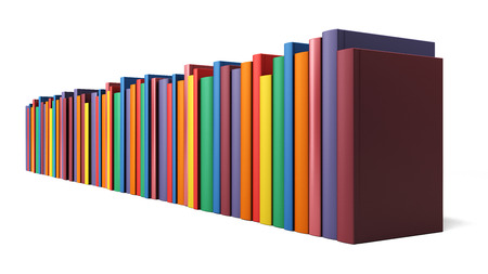 Color books in line isolated on a white background Stockfoto